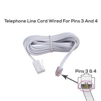 BT Telephone Line Cord 3 Metres (Wired for Pins 3 & 4 - Check Your Product Before Ordering)